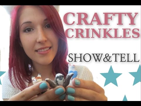 ASMR - SHOW & TELL ~ Soft Spoken Crinkles and Tapping ~ My Mini Animal Sculptures