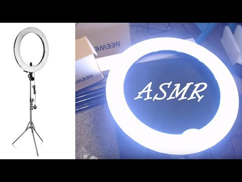 ASMR ~ Studio Tour and Unboxing Neewer LED Ring Light 🏴