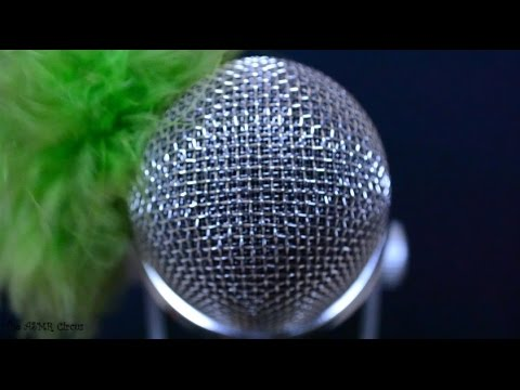 ASMR Featherbrushing The Mic . No Windshield . Soft & Rough Sounds