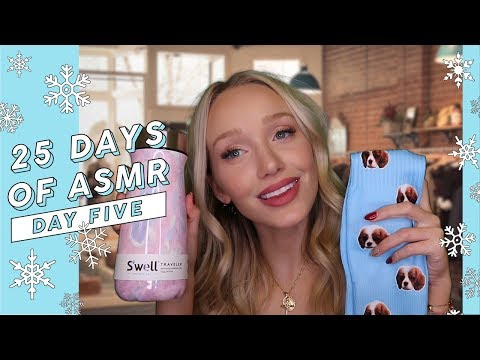 ASMR Personal Shopper Holiday Gift Guide (Tapping, Fabric + More Triggers!) #25DaysOfASMR | GwenGwiz