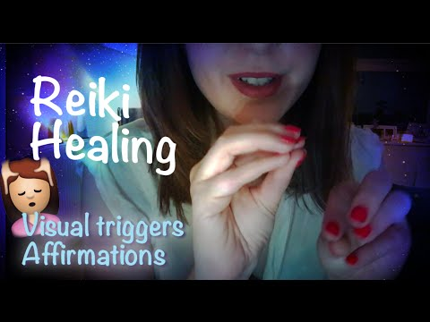 Reiki Energy Healing Roleplay *ASMR* 💆🏽Hand movements, affirmations, breathing, spa music