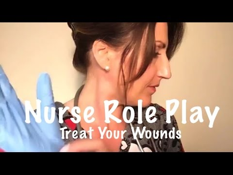 ASMR Binaural Whispered Nurse Role Play | Head Dressing | Rubber Gloves | Personal Attention