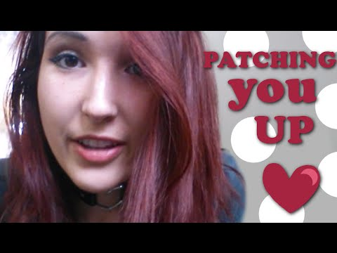 ASMR - CARING FRIEND ROLEPLAY ~ Patching You Up After A Fall ~