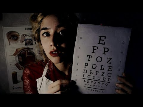 [ASMR] 1950's Eye Exam (French Accent) ~