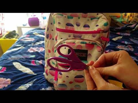 ASMR ~ 5 Tips For Keeping Your Bookbag Clean And Organized ~ What's In My Bookbag ~ Whispering