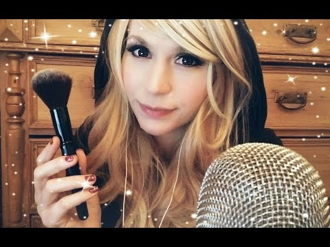 ASMR Close Up Mouth Sounds & Gentle Mic Brushing . Tongue Clicking
