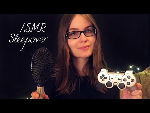 ASMR Sleepover Roleplay | Face Painting, Hair Brushing, Soft Spoken