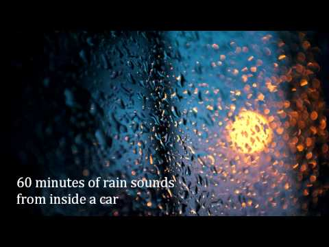 Relaxing Sounds of Nature 7 - 60 minutes of rain sounds from inside a car [no music or thunder]