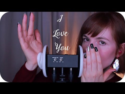 """ASMR """"I Love You"""" Whispered in 23 Languages // Lotion Ear Massage (3Dio)"""