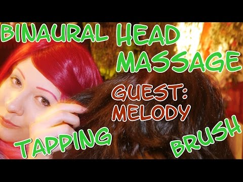 HARMONY ASMR + GUEST: MELODY Head Massage with Brush and Tapping