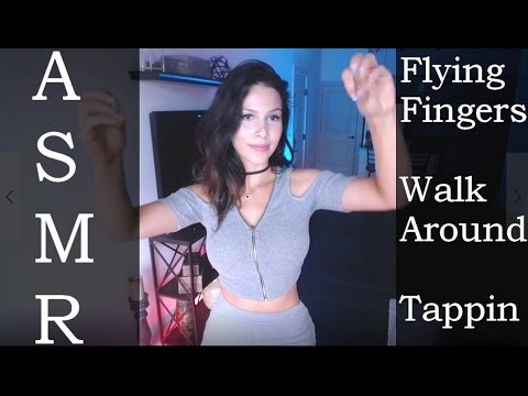 ASMR - Flying fingers, Tapping, Walk Around, The rain story (Stereo)
