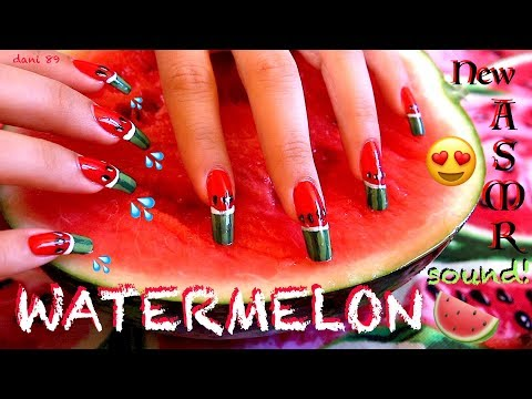 🍉 ASMR: The most satisfying SCRATCHING WATERMELON 🍉 Super tingly and wet sounds! 💦