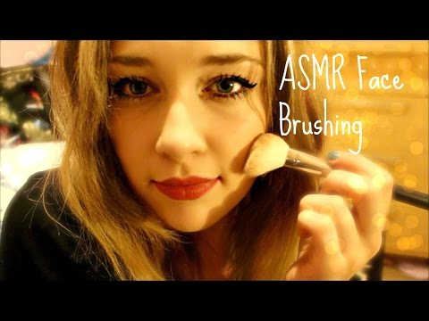 ASMR FACE BRUSHING on you and me!♡♥
