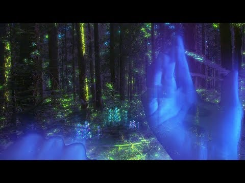 ⋄ Forest of spirits 5 [ASMR] Fantasy, Glowing & Surreal Forest ⋄ Relaxing Nature