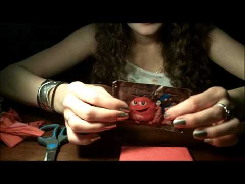#71 ASMR Wrapping a Present (Crinkling, Cutting, Tape Etc)