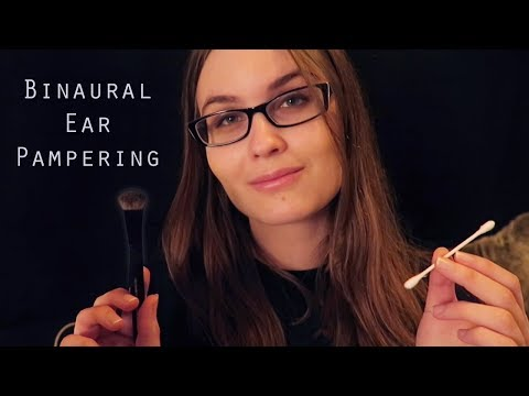 ASMR Ear Cleaning Roleplay | Massage, Brushing, Lotion, Ear to Ear Whispering