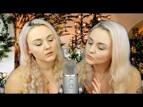 ASMR - Twin Ear Eating - Kissing, Mouth Sounds