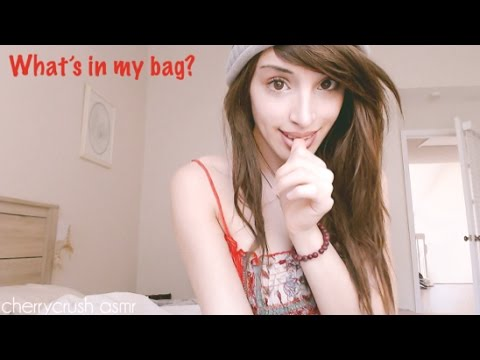 asmr // Sleepy Relaxing Sounds // What's in my bag?