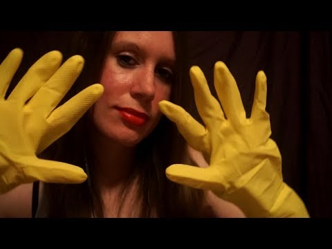 ASMR Latex/Crinkly Gloves [With Hand Movements]