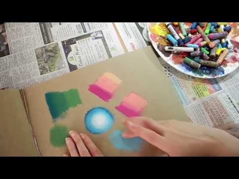 ASMR Testing Art Materials - Playing with Oil Pastels