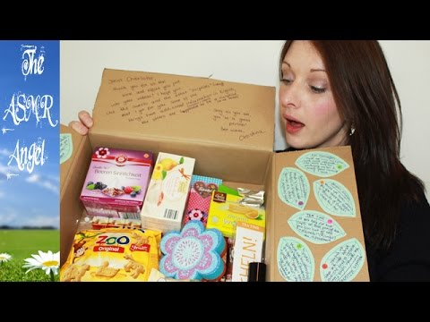 ASMR -  Unboxing a food package from Germany -Soft Spoken