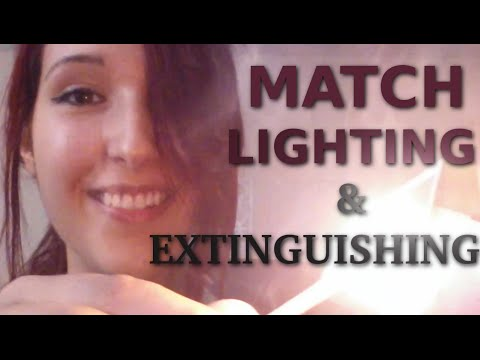 ASMR - PLAYING WITH FIRE! ~ Match Lighting & Extinguishing for Relaxation ~