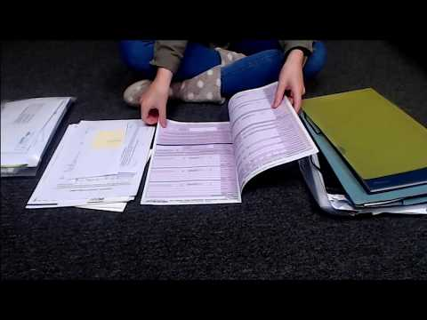 ASMR Paper Document Sorting (No Talking) Intoxicating Sounds Sleep Help Relaxation