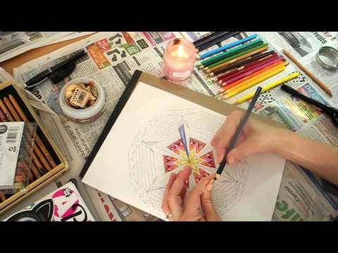 ASMR Colouring Mandala Part 2 (plus rant about school)