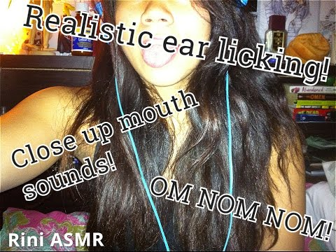 Ear to ear VERY close up mouth sounds #2 (+ Tapping)