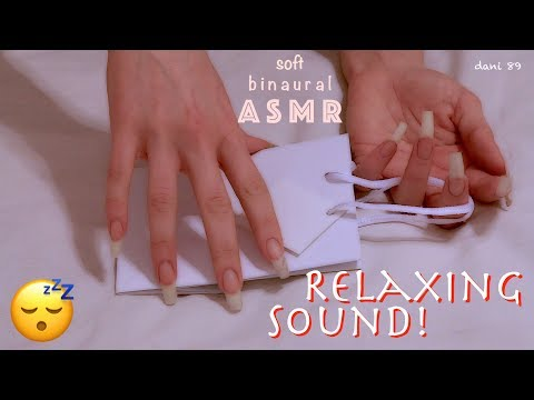 🎧 NEW binaural ASMR ✶ RELAXING SOUND with my long natural nails ❀ 💤 SOFT BLISS ✦