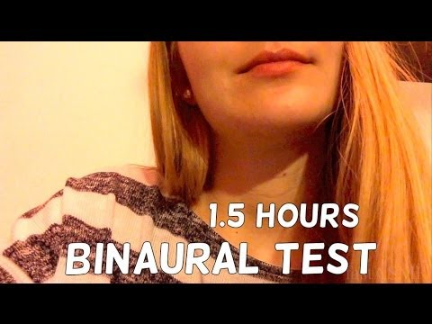 ASMR ♥ 3D/Binaural Mic Test Video (long!)