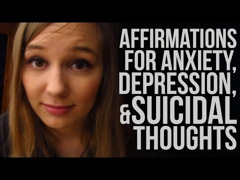 [ASMR] Affirmations for Anxiety, Depression & Suicidal Thoughts (softly spoken)