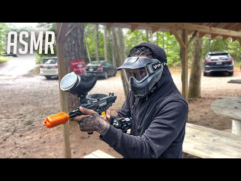ASMR   **EXTREME PAINTBALLING SOUNDS** For SLEEP And Relaxation Whispers , Tapping . Soothing TriggS