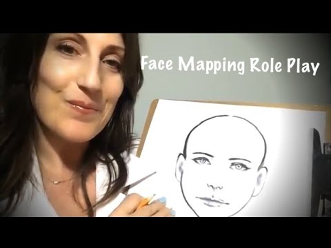 ASMR Face Mapping Role Play for Tingles and Relaxation *binaural*