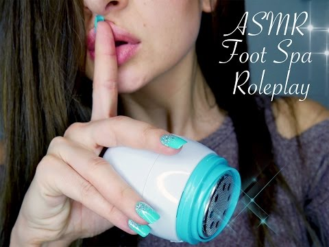 ASMR Foot Spa Roleplay *Pedicure and Massage