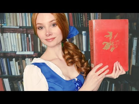 ASMR Beauty and the Beast Role Play ❤ Book sounds, Page flipping, Ear to ear whisper, Reading