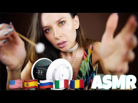 ASMR trigger words in 5 languages / Plus different trigger sounds