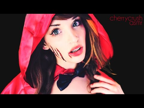 ASMR Red Riding Hood // Halloween Makeup Look // Cherry Crush