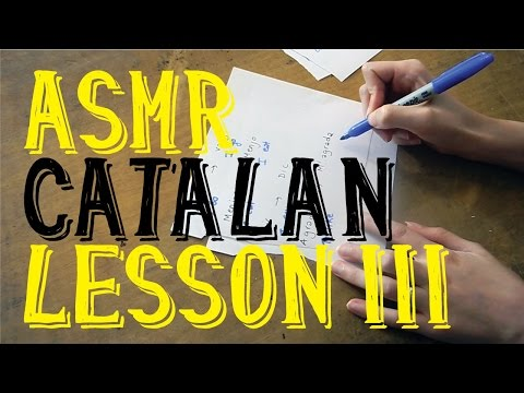 ASMR Catalan Lesson III (in English) | Whispering | Female Voice | LITTLE WATERMELON