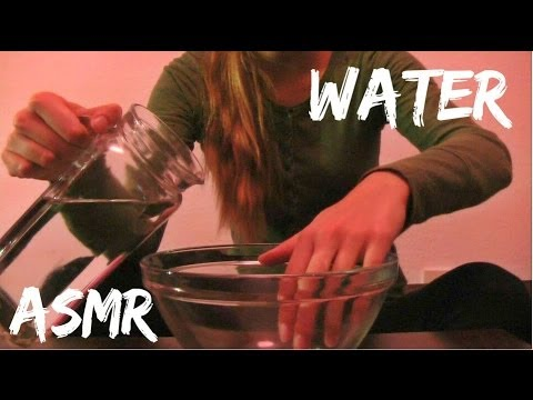 ASMR ♥ Water Sounds (+foam and water bottle)