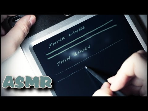 166. Boogie Board and Stylus: Writing & Drawing - SOUNDsculptures - ASMR