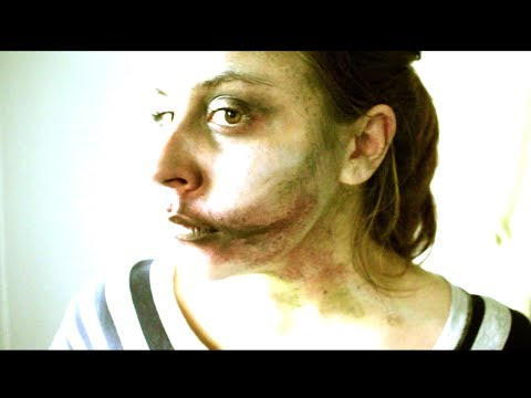 Relaxing Zombie Makeup Tutorial (WARNING: A FEW SECONDS OF SILLYNESS IN BEGINNING)