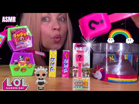 ASMR LOL SURPRISE CANDY DISPENSER, PUPPY LOVE CANDY SURPRISE ,UNICORN CHOCOLATE EATING SOUNDS