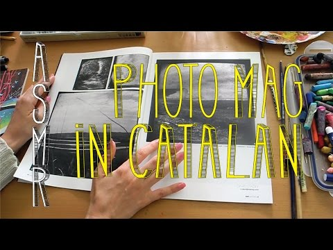 ASMR Turning Pages of a Photography Magazine - Soft Spoken Comments in Catalan - Little Watermelon