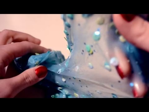 ASMR Super Stretchy Slime . Squeezing Stretching Ripping . Squishy Crunchy Popping Sounds