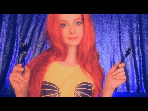 ASMR Little Mermaid 🌊 Doing Your Makeup Role Play