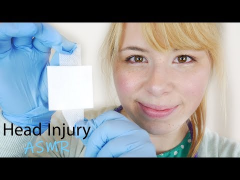 ASMR Head Injury Roleplay (Dressing Change, Wound Cleaning)