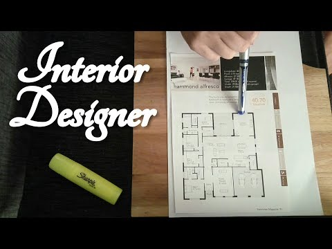 ASMR Interior Designer Role Play (Floor Plan, Pen, Writing, Highlighter)