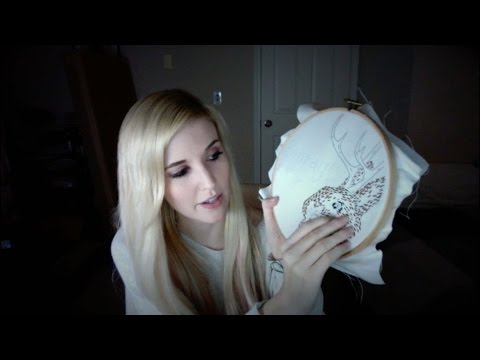 ASMR Embroidery Show and Tell