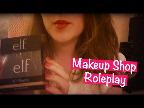 ASMR Makeup Shop Role Play 💄 Tapping, Crinkles, Brushing, Unboxing, Soft Spoken